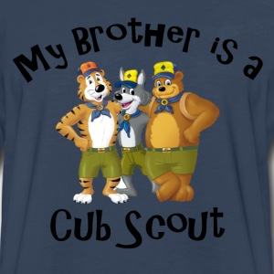 Boy's My Brother is a Cub Scout Shirt - Men's Premium Long Sleeve T-Shirt