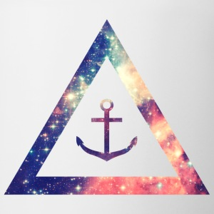 Galaxy / universe / hipster triangle with anchor T-Shirts - Coffee/Tea Mug