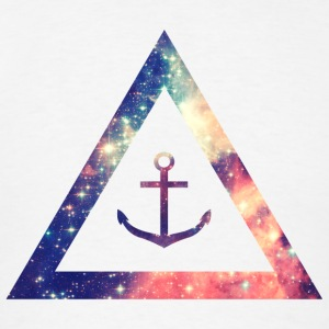 Galaxy / universe / hipster triangle with anchor Hoodies - Men's T-Shirt