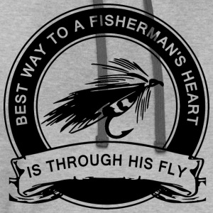 Fly Fishing Humor T-Shirts - Contrast Hoodie