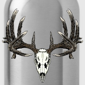 Big whitetail skull - Water Bottle
