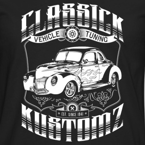 Classick Kustomz (white) Hoodies - Men's Premium Long Sleeve T-Shirt