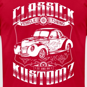 Classick Kustomz (white) Long Sleeve Shirts - Men's T-Shirt by American Apparel
