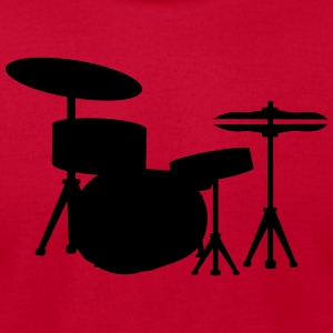 Drums Drummer Sweatshirts - Men's T-Shirt by American Apparel