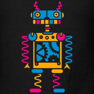 A robot with gear wheels Bags & backpacks - Men's T-Shirt