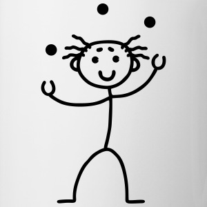 Stick Figure - juggling Kids' Shirts - Coffee/Tea Mug