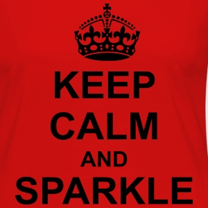 Keep Calm And sparkle T-Shirts - Women's Premium Long Sleeve T-Shirt