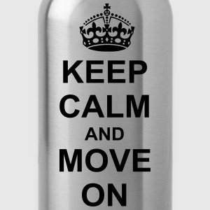 Keep Calm And move On T-Shirts - Water Bottle