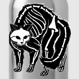 Scaredy Cat Black T-Shirts - Water Bottle
