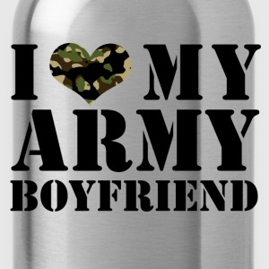 i love my army boyfriend Tanks - Water Bottle