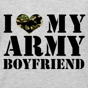 i love my army boyfriend Tanks - Men's Premium Long Sleeve T-Shirt