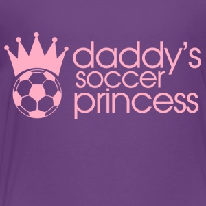 daddys soccer princess Kids' Shirts - Toddler Premium T-Shirt