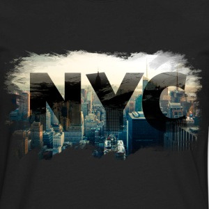 nyc new york city skyline Hoodies - Men's Premium Long Sleeve T-Shirt