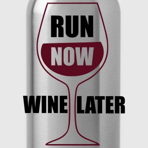 Run Now Wine Later Tanks - Water Bottle