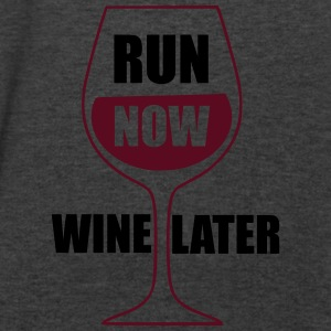 Run Now Wine Later Tanks - Men's V-Neck T-Shirt by Canvas