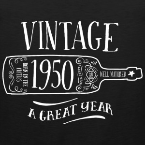 Vintage Age, 1950, Birth Year, Wine Bottle - Men's Premium Tank