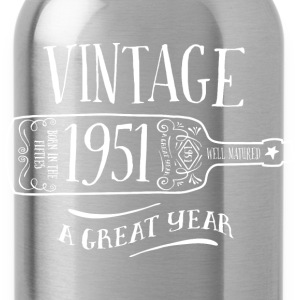 1951 Vintage Birthday - Water Bottle