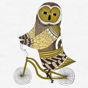 owlridingbikeshirt Bottles & Mugs - Men's T-Shirt