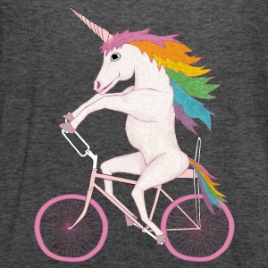 unicorn on bike Women's T-Shirts - Women's Flowy Tank Top by Bella