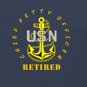 US Navy CPO Chief Petty Officer Retired Women's Sh - Men's Premium Tank