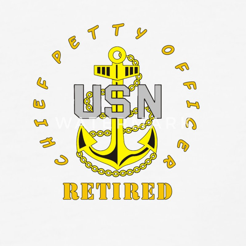 US Navy CPO Chief Petty Officer Retired Men's Shir - Baseball T-Shirt