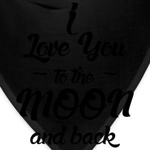 I Love You to the Moon and back Hoodies - Bandana