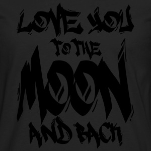 I Love You to the Moon and back Hoodies - Men's Premium Long Sleeve T-Shirt