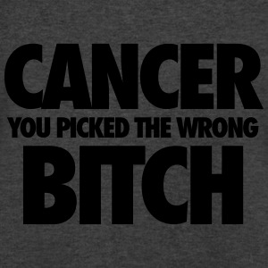 Cancer You Picked The Wrong Bitch Tanks - Men's V-Neck T-Shirt by Canvas