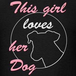 Girl loves Dog Hoodies - Men's T-Shirt
