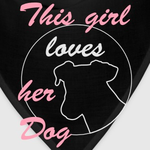 Girl loves Dog Hoodies - Bandana
