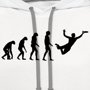 Ultimate Frisbee Evolution Long Sleeve Shirts - Contrast Hoodie