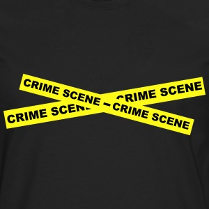 Crime Scene Tape T-Shirts - Men's Premium Long Sleeve T-Shirt