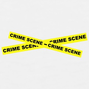 Crime Scene Tape Bottles & Mugs - Men's Premium Tank