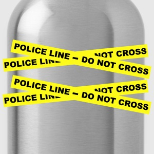 Police Line - Do Not Cross Zip Hoodies & Jackets - Water Bottle