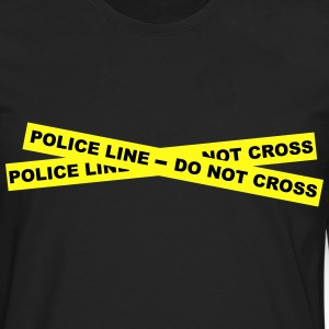 Police Line - Do Not Cross T-Shirts - Men's Premium Long Sleeve T-Shirt