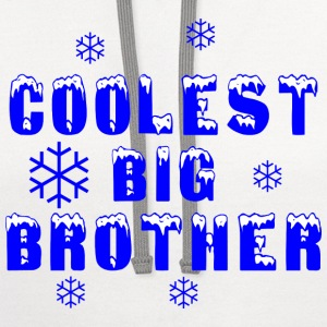 Coolest Big Brother  - Contrast Hoodie