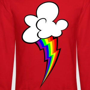 Rainbow Lightning Bolt Crewneck Sweatshirt