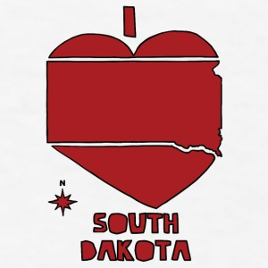 i heart South Dakota (red) Bottles & Mugs - Men's T-Shirt