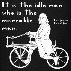 ben franklin cycling quote Bags & backpacks - Men's T-Shirt