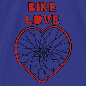 bike love red rim black spokes Bags & backpacks - Men's Premium T-Shirt