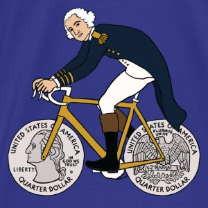 george washington on bike with quarter wheels Bags & backpacks - Men's Premium T-Shirt