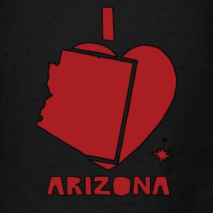 i heart Arizona (red) Bags & backpacks - Men's T-Shirt