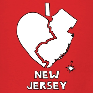 i heart New Jersey (red) Bags & backpacks - Men's T-Shirt