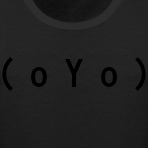 Big Tits (oYo) Boobs Sexy Text Emoticon T-Shirts - Men's Premium Tank