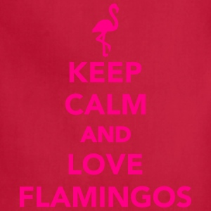 Keep calm and love Flamingos Kids' Shirts - Adjustable Apron