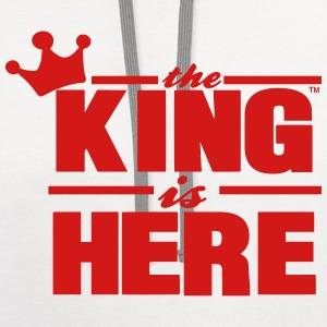 THE KING IS HERE - Contrast Hoodie