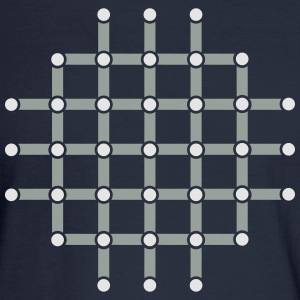 Optical illusion, Find the black dot! T-Shirts - Men's Long Sleeve T-Shirt