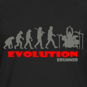 Drummer Drum ape of Evolution - Men's Premium Long Sleeve T-Shirt