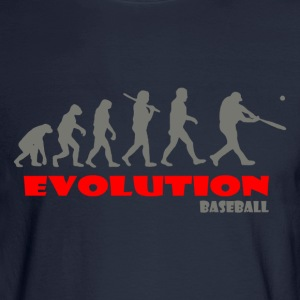 Baseball ape of Evolution - Men's Long Sleeve T-Shirt