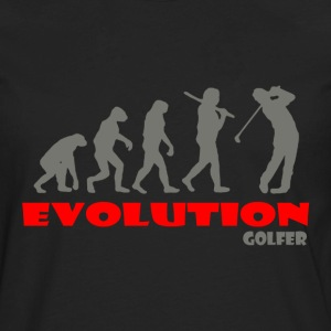 Golfer Golf ape of Evolution - Men's Premium Long Sleeve T-Shirt